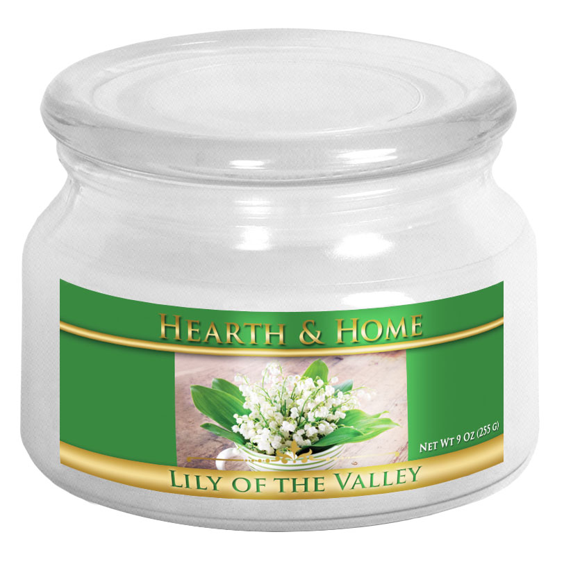 lily of the valley small jar candle hearth home candle company
